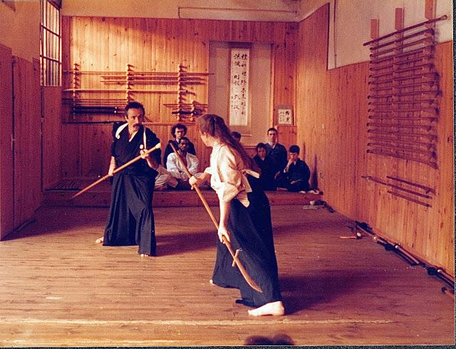 Pierre Simon und Claire Seika trainieren Toda-Ha Buko Ryu